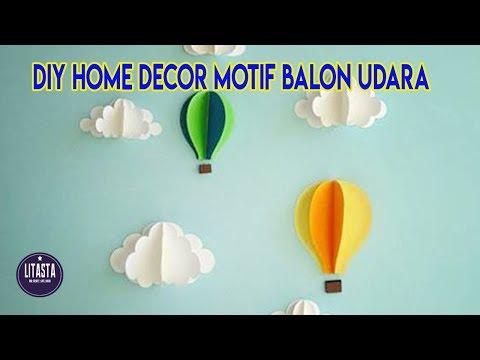 Dekorasi Kamar Dengan Hiasan Balon Udara Dari Kertas Origami