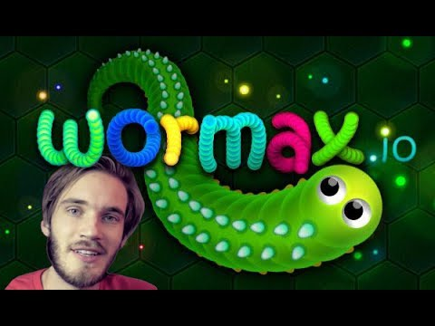 PLAYING WITH PEWDIEPIE - Wormax.IO