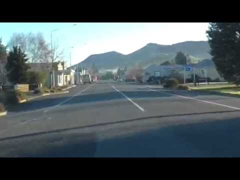 Drive Through Lumsden, Southland, NZ - 4 August 2014