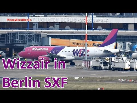 Wizz Air Airbus A320: first takeoff from Berlin Schönefeld Airport