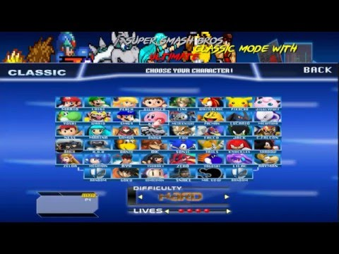 super smash bros ultimate fan game classic mode with