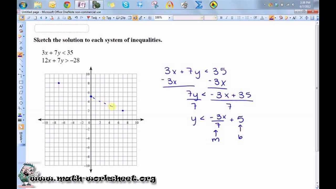 worksheet. Solving Systems Of Inequalities Worksheet ...