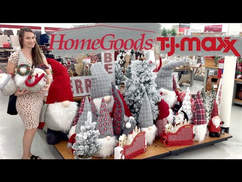 Christmas Decor?! Um.. Yes. Home Goods + TJ Maxx Shop With Me!  It's the Most Wonderful Time!