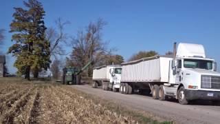 case ih 9240 combine corn harvesting in britton michigan harvest 2016