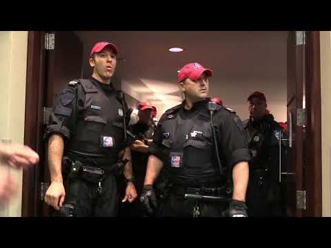 Protest and arrests at Energy East pipeline hearings