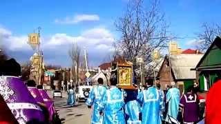 Крестный ход с образом Богородицы