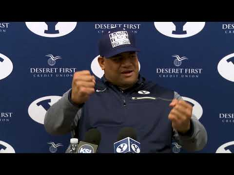 BYU Football - 2018  Early Signing Period Press Conference - Ilaisa Tuiaki December 20, 2017