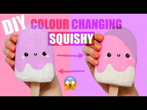 DIY COLOR CHANGING SQUISHY - TOUCH TO CHANGE