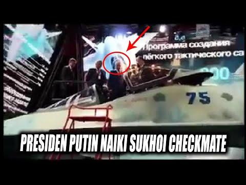 Detik Detik Presiden Putin Naiki Sukhoi 75 Checkmate - AS Gigit Jari