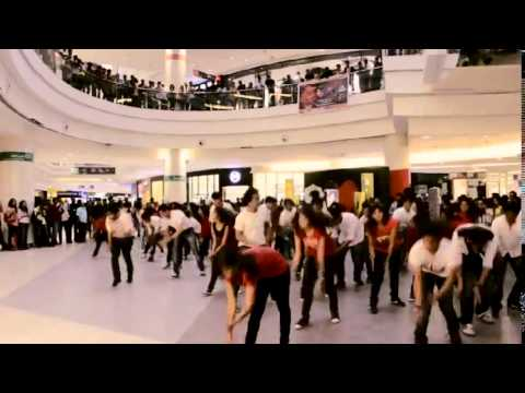 Reverb 2014 flash mob of Symbiosis Institutes Of technology, Pune at Phoenix Mall, pune