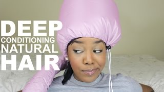 Deep Conditioning Natural Hair | My Routine | #RYT