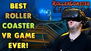 BEST ROLLER COASTER GAME HANDS DOWN! | RollerCoaster Legends Gameplay (HTC Vive VR)