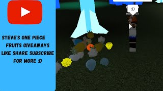 Giveaway In Roblox (Alpha) Steve's One Piece