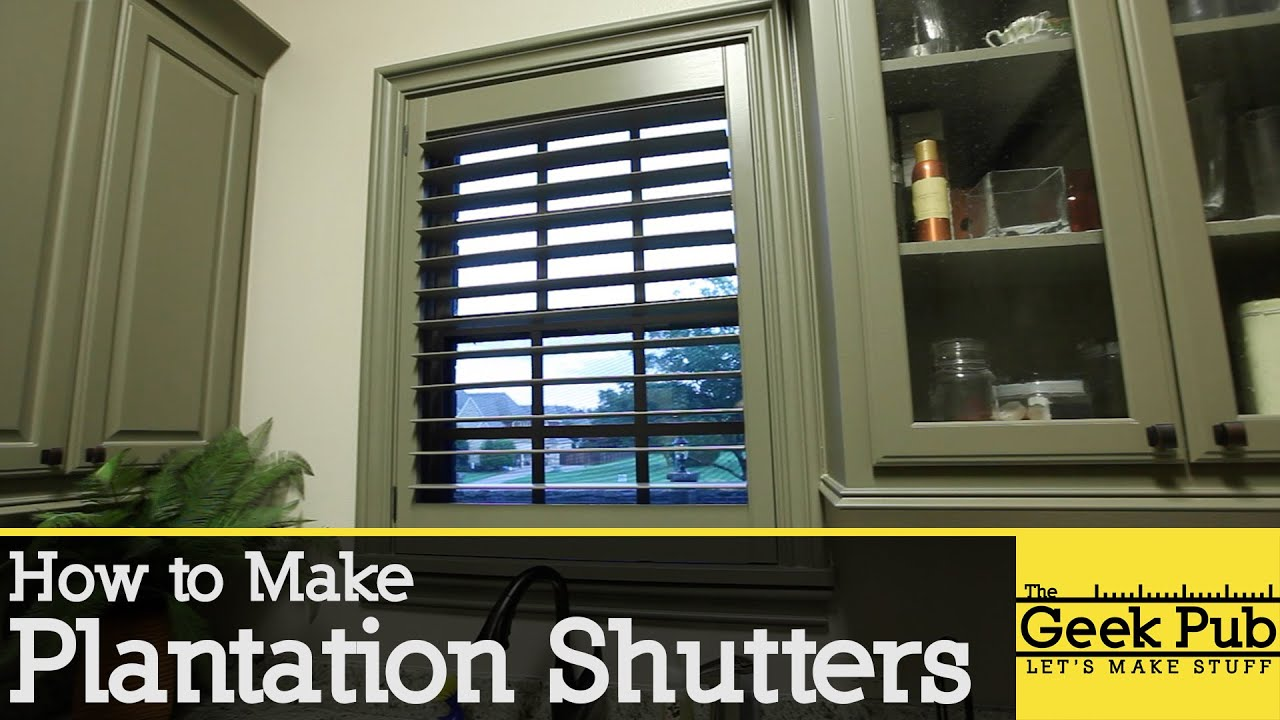 How to make plantation shutters youtube How to make exterior shutters