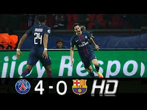 PSG vs FC Barcelona 4 - 0 Goles Y Resumen • All Goals & Full Highlights UCL 14/02/17 HD