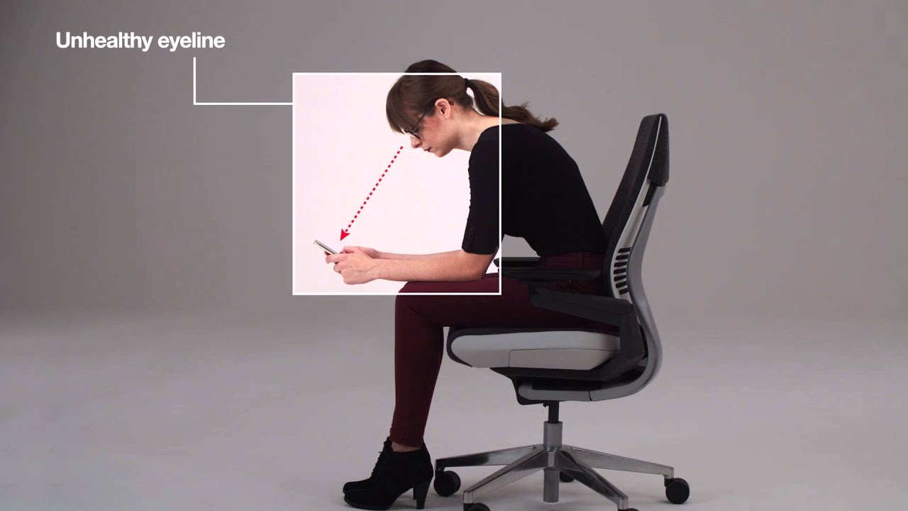 steelcase chair slipcover for and a half ottoman gesture ergonomic office desk interacting with technology