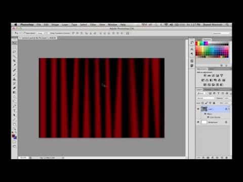 How To Create A Simple Curtain Effect In Photoshop Using Gradients