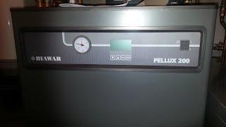 Pellet Boiler NIBE BIAWAR PELLUX 200 cleaning