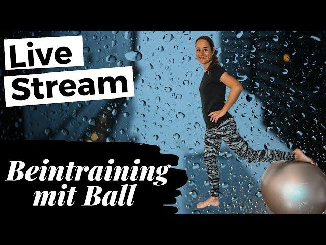 Live Stream: Gymnastikball Workout für Beine und Po