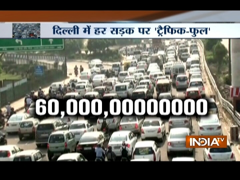 Delhi wasted Rs 60,000 crore a year by standing in traffic, study done by IIT, Madras