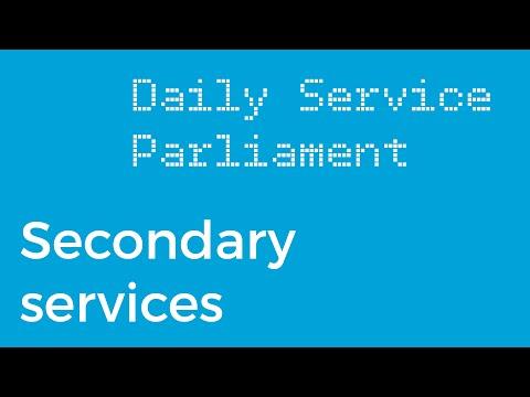 Secondary services on DAB digital radio