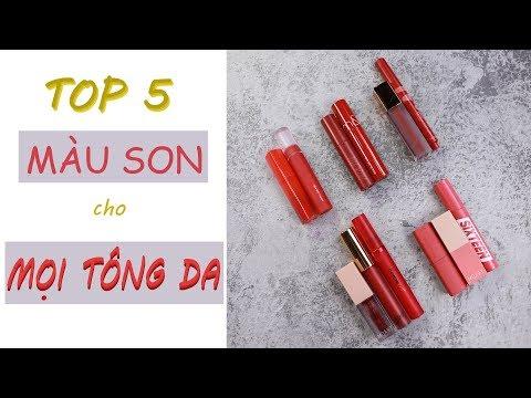[TRANG & NGÂN] TOP 5 MÀU SON phù hợp cho MỌI TÔNG DA