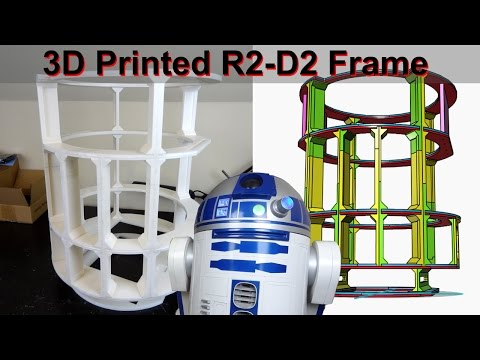 XRobots - 3D Printed Star Wars R2-D2 R6 Droid Part 2 - Completing the Frame