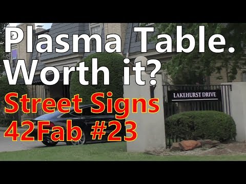 Making a CNC Table EARN its Keep | Powder Coated Street Signs - 42Fab #23