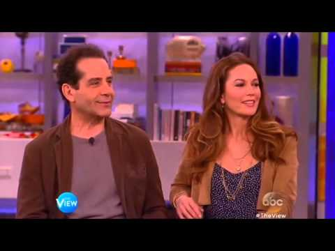 Diane Lane and Tony Shalhoub on The View (Mar 20th, 2015)