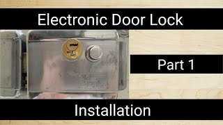 How to install CP Plus Electronic Lock | Step by step | Electronic door lock kaise lagaye Part 1/3