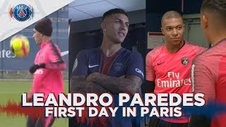 LEANDRO PAREDES - FIRST DAY IN PARIS