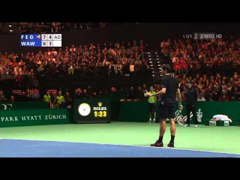 Highlights des Match for Africa 2 – Roger Federer gegen Stan Wawrinka