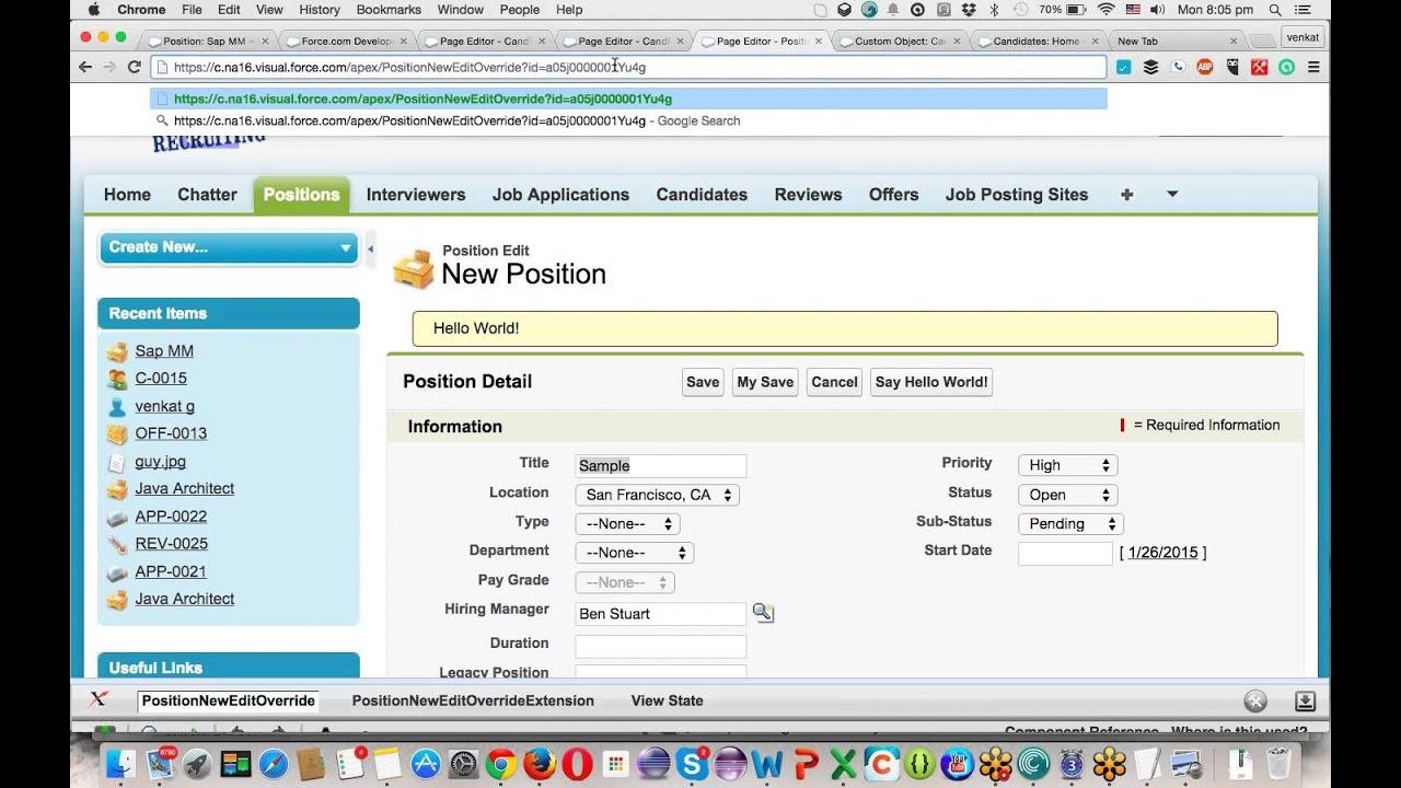 Salesforce VisualForce Example 13 TR00115