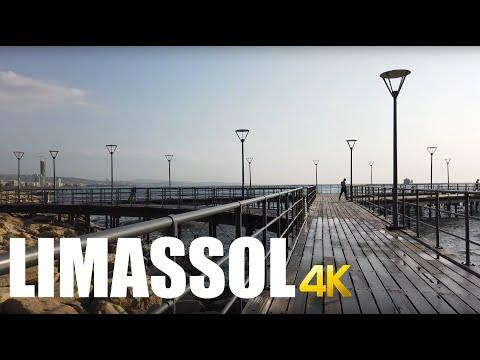 Limassol, Cyprus Old Town Walking Tour 4k 60fps