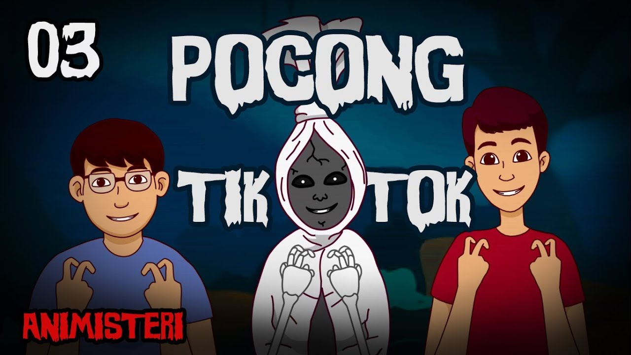 Animisteri 03 Pocong Tik Tok Kartun Lucu Horor Kartun Hantu