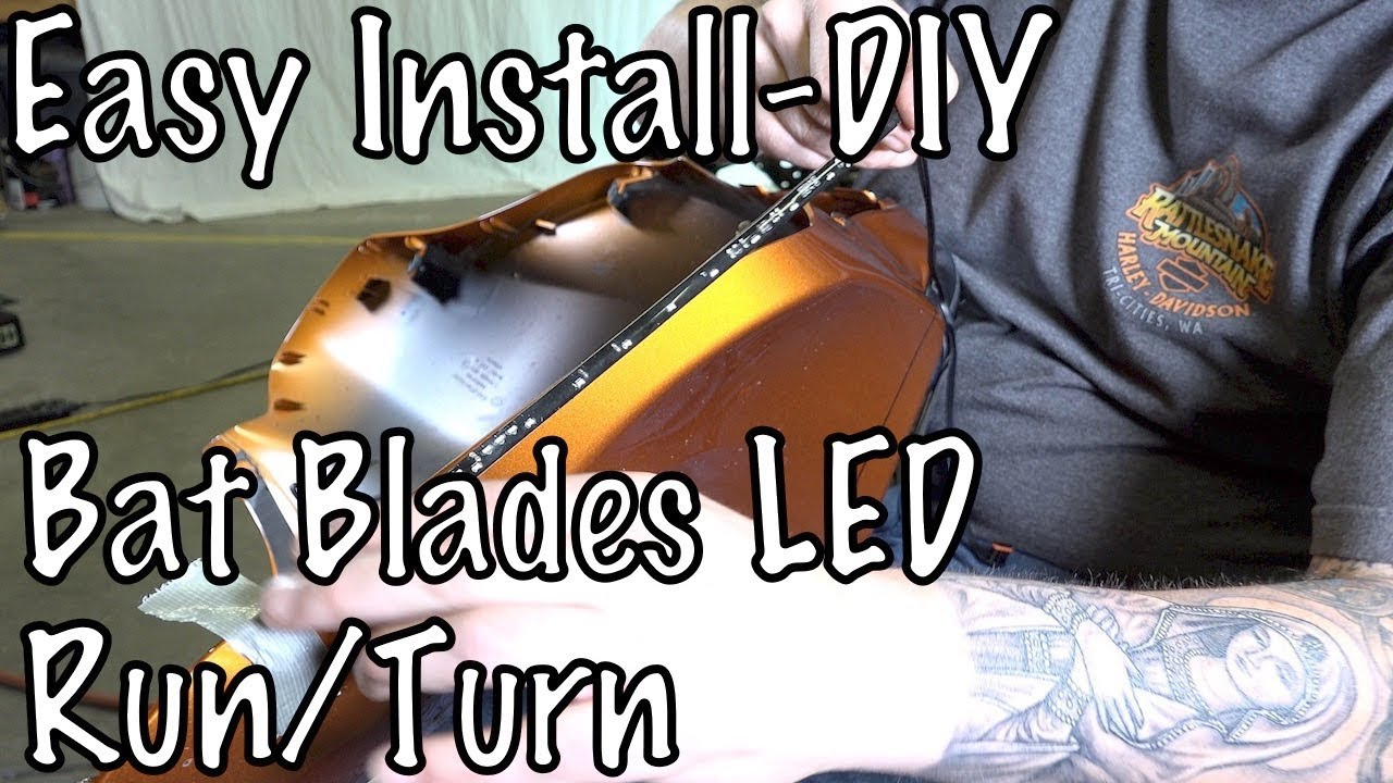 54074fb27e How to Install Ciro 3D Bat Blades LED White & Amber Turn Signal Lights on  Harley