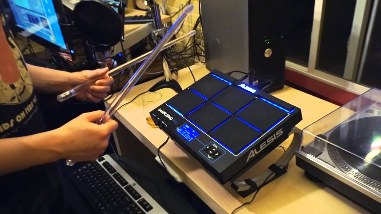 Alesis Samplepad PRO - demo and review by SPEARFISHER - YouTube