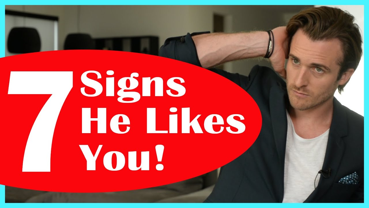 First date signs he likes you
