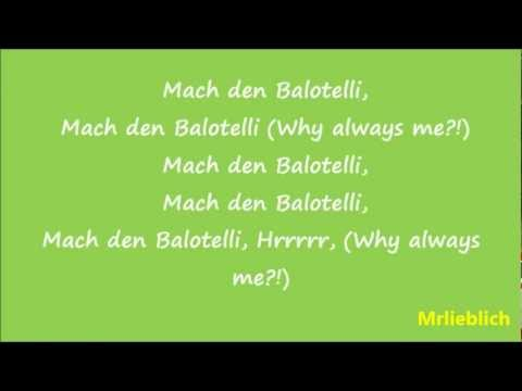 Bass Sultan Hengzt (B.S.H.) - Mach den Balotelli (official lyrics Video)