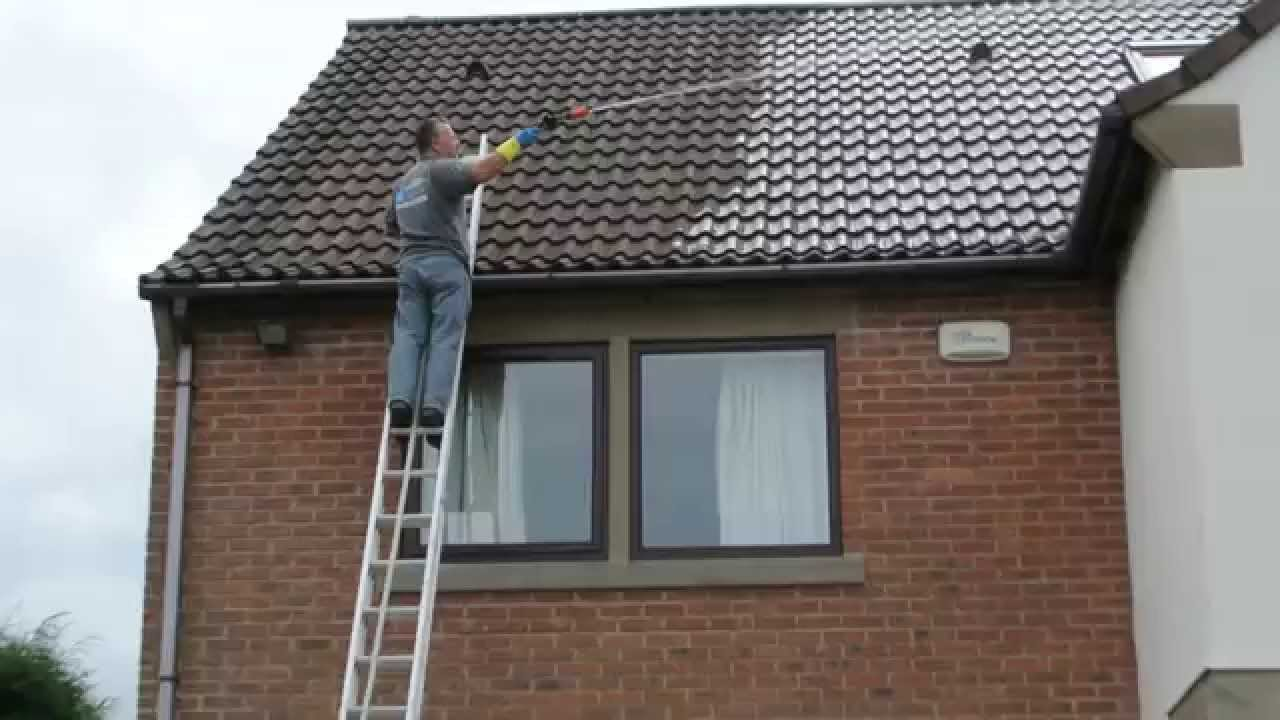 Evolution Cleaning Solution Roof Cleaning Using The Monty
