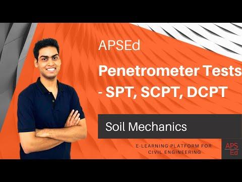 Penetrometer Tests - SPT, SCPT, DCPT | Soil Mechanics