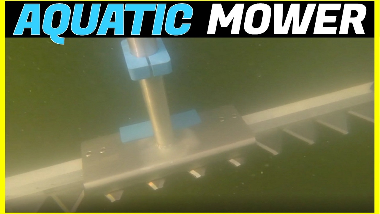 Battery Powered Lake Pond Sea Weed Cutter Mower Mounts To