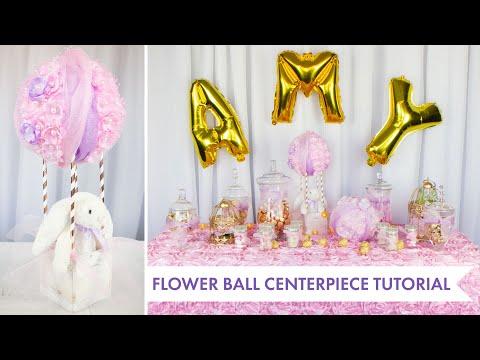 Flower Ball Centerpiece Tutorial ? Dessert Table Ideas | BalsaCircle.com thumbnail