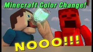 Minecraft Color Changing Potion Bottle MIXUP! Zombie Steve GONE RED?! Mattel mini figures