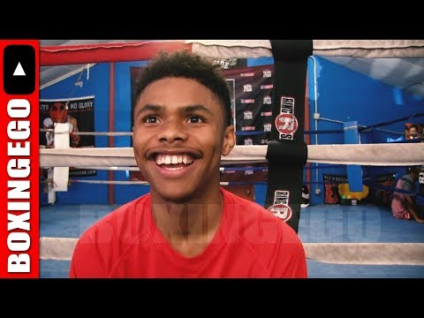 SHAKUR STEVENSON on having OG Role Models Andre Ward & Crawford; future stars Gervonta & Richardson