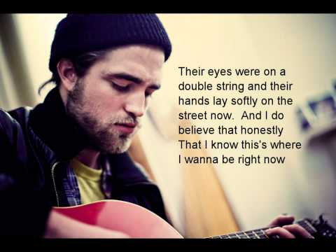 New! Robert Pattinson: Songs From A Room w/ Lyrics & live clip too!