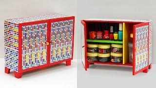 DIY Crafts: Best Out of Waste Crafts   How to Make Cardboard Organizer   DIY Cupboard From Cardboard