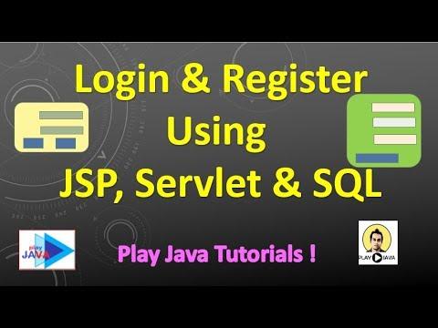 Login & Registration Using JSP , Servlet & SQL [ Part 1]