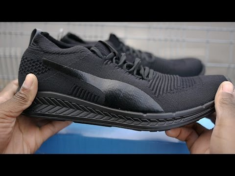 434e0754552 Puma Ignite Proknit Review   On Feet (Triple Black) - YouTube