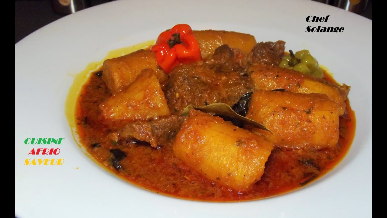 Le kondr rago t de viande et plantains cameroun youtube for Plat a cuisiner simple